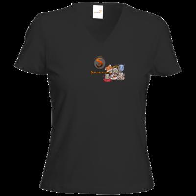 Motiv: T-Shirts Damen V-Neck FAIR WEAR - Syrenia - Special Front