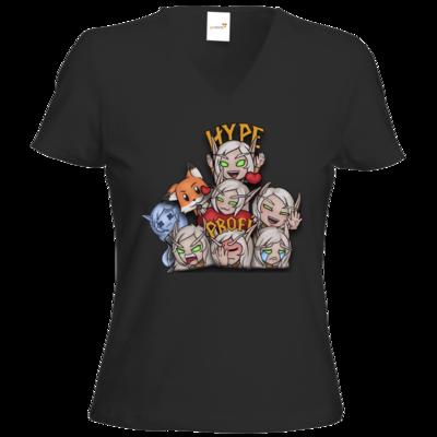 Motiv: T-Shirts Damen V-Neck FAIR WEAR - Syrenia - Tassenmotiv 3