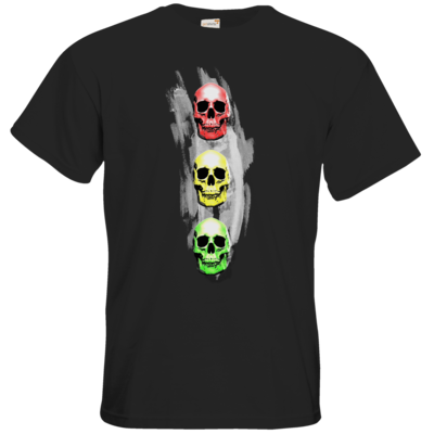 Motiv: T-Shirt Premium FAIR WEAR - Ampelskull