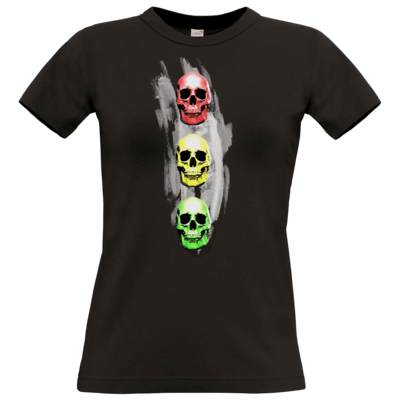 Motiv: T-Shirt Damen Premium FAIR WEAR - Ampelskull