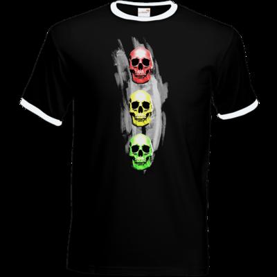 Motiv: T-Shirt Ringer - Ampelskull
