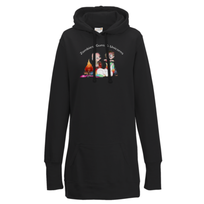 Motiv: Lady Longline Hoodie - DerPeci - Zombies, Guns and Unicorns