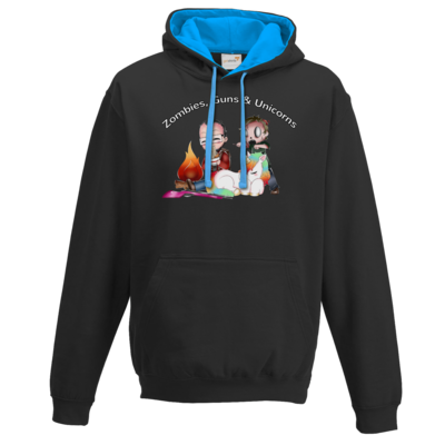 Motiv: Two-Tone Hoodie - DerPeci - Zombies, Guns and Unicorns