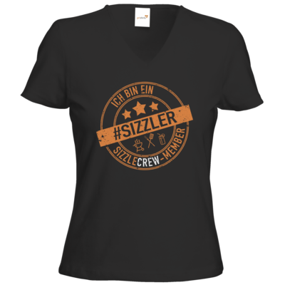 Motiv: T-Shirts Damen V-Neck FAIR WEAR - sizzler_3_dunkel
