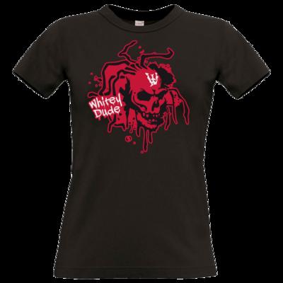 Motiv: T-Shirt Damen Premium FAIR WEAR - Whitey - Logo rot