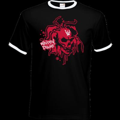 Motiv: T-Shirt Ringer - Whitey - Logo rot