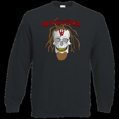 Motiv: Sweatshirt Classic - Whitey - Pixel Skull mit Schrift