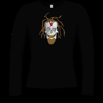 Motiv: Longsleeve Damen FAIR WEAR - Whitey - Pixel Skull