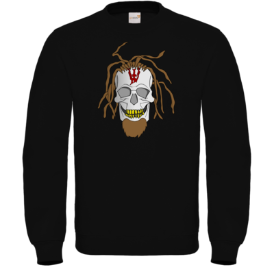 Motiv: Sweatshirt FAIR WEAR - Whitey - Pixel Skull