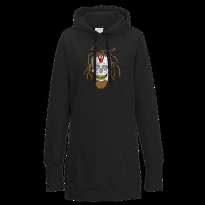 Motiv: Lady Longline Hoodie - Whitey - Pixel Skull