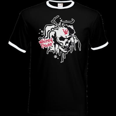 Motiv: T-Shirt Ringer - Whitey - Logo