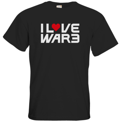 Motiv: T-Shirt Premium FAIR WEAR - Back2Warcraft - I love War3