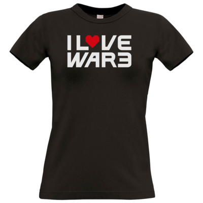 Motiv: T-Shirt Damen Premium FAIR WEAR - Back2Warcraft - I love War3