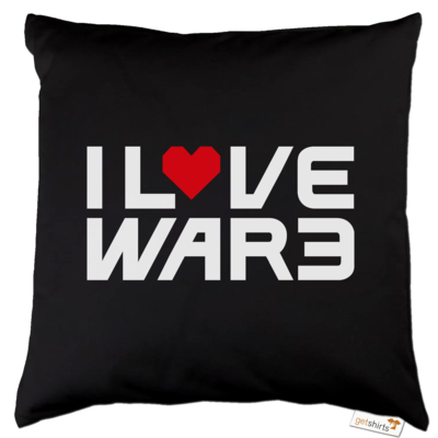 Motiv: Kissen Baumwolle - Back2Warcraft - I love War3