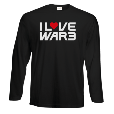 Motiv: Exact 190 Longsleeve FAIR WEAR - Back2Warcraft - I love War3
