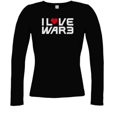 Motiv: Longsleeve Damen FAIR WEAR - Back2Warcraft - I love War3