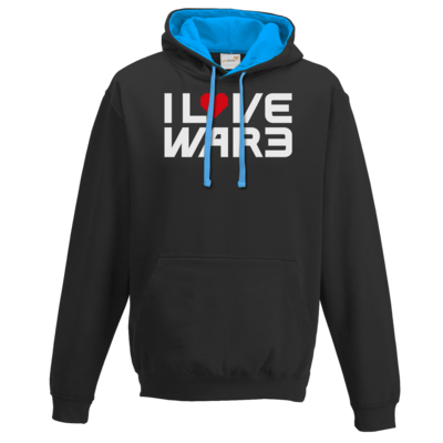 Motiv: Two-Tone Hoodie - Back2Warcraft - I love War3