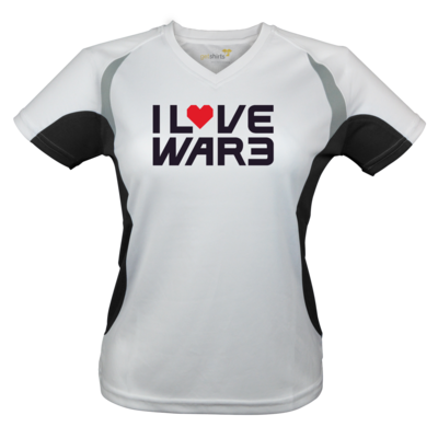 Motiv: Laufshirt Lady Running T - Back2Warcraft - I love War3