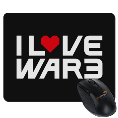 Motiv: Mousepad Textil - Back2Warcraft - I love War3
