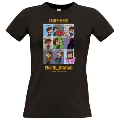 Motiv: T-Shirt Damen Premium FAIR WEAR - North_Station - Gamer-Bingo