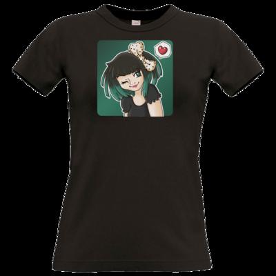 Motiv: T-Shirt Damen Premium FAIR WEAR - Xaly - Avatar Xaly Green