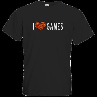 Motiv: T-Shirt Premium FAIR WEAR - Hirnsturz - I love Games