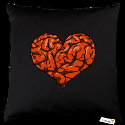 Motiv: Kissen Baumwolle - Hirnsturz - Herz