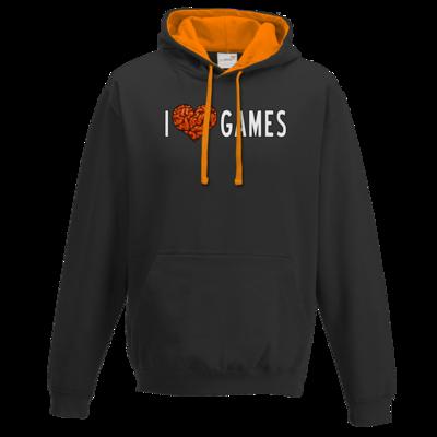 Motiv: Two-Tone Hoodie - Hirnsturz - I love Games