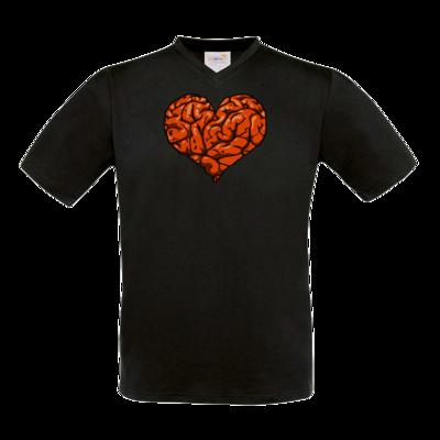 Motiv: T-Shirt V-Neck FAIR WEAR - Hirnsturz - Herz