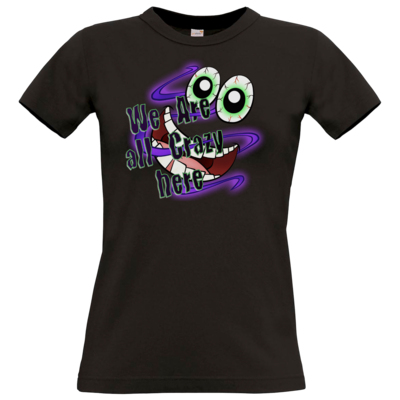Motiv: T-Shirt Damen Premium FAIR WEAR - SandcoolTV - We Are Crazy