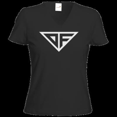 Motiv: T-Shirt Damen V-Neck Classic - DF Logo