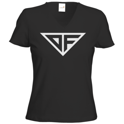 Motiv: T-Shirts Damen V-Neck FAIR WEAR - DF Logo