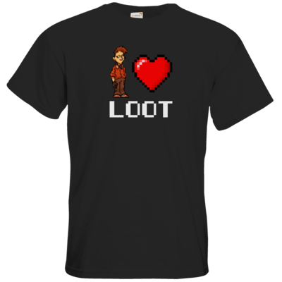 Motiv: T-Shirt Premium FAIR WEAR - LootBoy - Pixel Loot