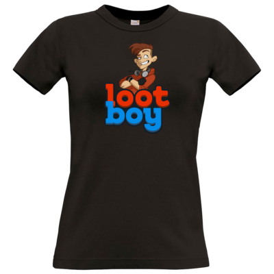 Motiv: T-Shirt Damen Premium FAIR WEAR - LootBoy - Logo