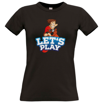 Motiv: T-Shirt Damen Premium FAIR WEAR - LootBoy - Lets Play