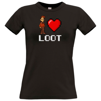 Motiv: T-Shirt Damen Premium FAIR WEAR - LootBoy - Pixel Loot
