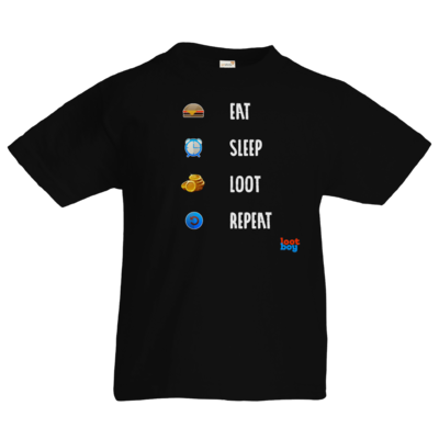 Motiv: Kids T-Shirt Premium FAIR WEAR - LootBoy - eat sleep loot repeat