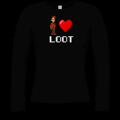 Motiv: Longsleeve Damen FAIR WEAR - LootBoy - Pixel Loot