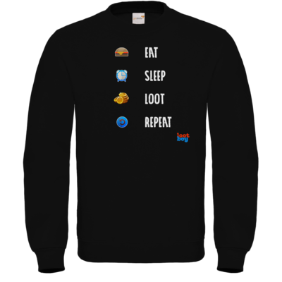 Motiv: Sweatshirt FAIR WEAR - LootBoy - eat sleep loot repeat