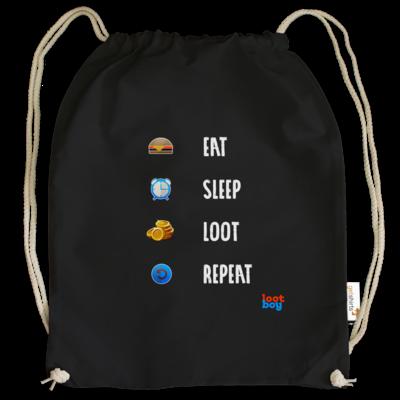 Motiv: Cotton Gymsac - LootBoy - eat sleep loot repeat