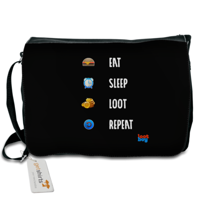 Motiv: Schultertasche - LootBoy - eat sleep loot repeat
