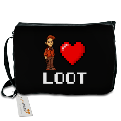 Motiv: Schultertasche - LootBoy - Pixel Loot