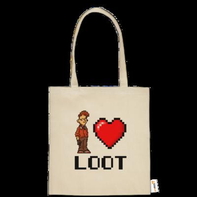 Motiv: Baumwolltasche - LootBoy - Pixel Loot