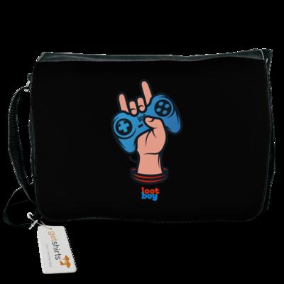 Motiv: Schultertasche - LootBoy - Hand up