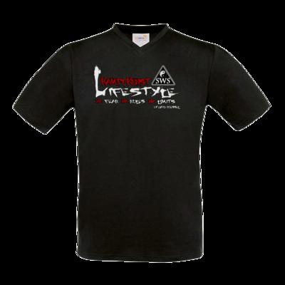 Motiv: T-Shirt V-Neck FAIR WEAR - Kampfkunst Lifestyle - Logo 2