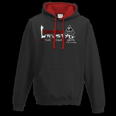 Motiv: Two-Tone Hoodie - Kampfkunst Lifestyle - Logo 2