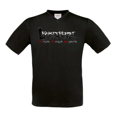 Motiv: T-Shirt V-Neck FAIR WEAR - Kampfkunst Lifestyle - Logo 1