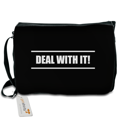 Motiv: Schultertasche - Deal With It - Style
