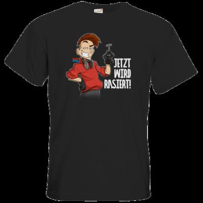 Motiv: T-Shirt Premium FAIR WEAR - LootBoy - Jetzt wird rasiert