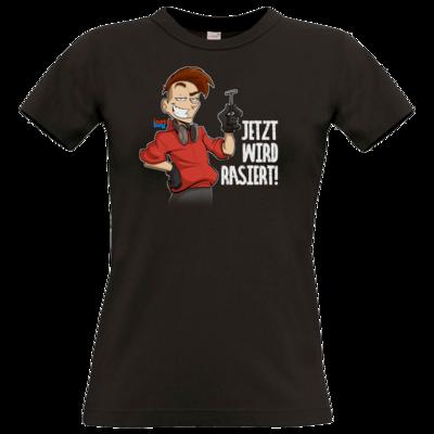 Motiv: T-Shirt Damen Premium FAIR WEAR - LootBoy - Jetzt wird rasiert